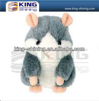 mini cartoon toy with voice recording plush toys hamster