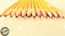 """Hot 7"""" hexagonalen gelb hb( Graphit) bleistift mit radiergummi Büro&. Schulbedarf"""