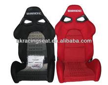 AK Factory Price black red B Cloth FRP BRIDE CUGA Racing Seat