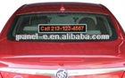 12V 24V For Car with 3 meter communication cable led scolling display sign/car led sign