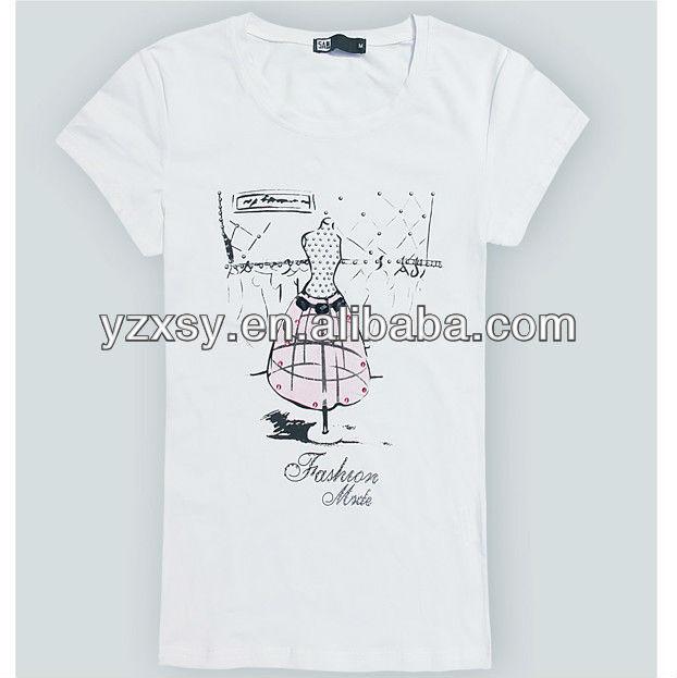 white color t shirt t-shirt korea design
