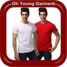 Oem Dri Fit Solid Color T-Shirt Cheap Pure Cotton T shirt Wholesale Mens Jersey O neck TShirts