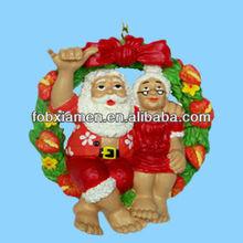 Polyresin new hawaii christmas tree ornament