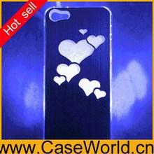 NEW Heart case LED Sense Flash light Case for iPhone 5 5G