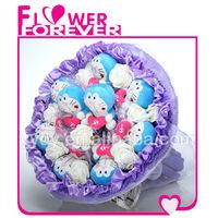 lovely Doraemon toy bouquet gift for boys