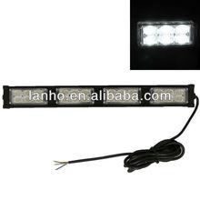 Vehicle Car Truck Roof Emergency 24 LED White Flash Lamp Strobe Light 12V