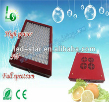 Rubine dual spectrum led grow light, 300w led grow panel lamp