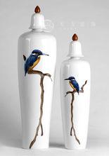 Bird decal fancy ceramic home decor