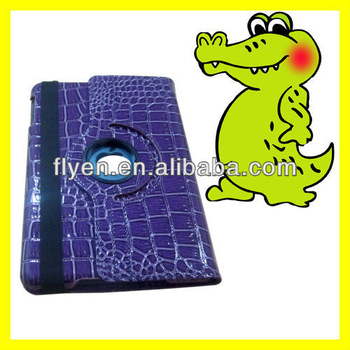 "Tablet accessories 360 Rotating for iPad mini Leather Case 7.9"" inch Tab Smart Cover Crocodile Skin Pattern"