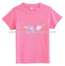 cheap100%cotton printed fashion o-neck children t-shirt short sleeve