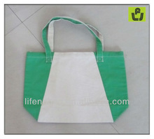 green organic cotton tote bag
