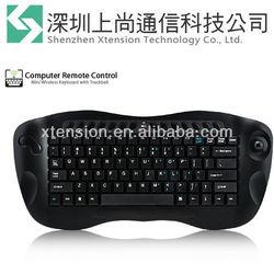New RF 2.4Gh Wireless Computer Remote Control 2.4G Mini Keyboard with Trackball