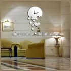 MR066latest decorative wall mirror clock sticker for home decoration