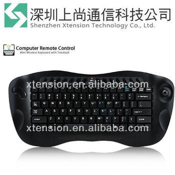 2013 Stylish Radio Frequency 2.4G Computer RC - Wireless Keyboard W/Trackball