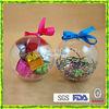 2 Part Bauble Ball Transparent Plastic