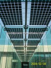 High efficiency bipv roofing solar panel, transparent glass solar panel
