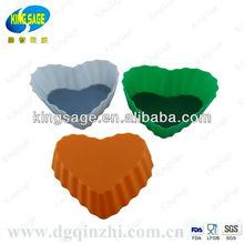 2013 heart shape bakeware silicone cake pan