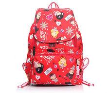 Multicolor printing cute waterproof backpacks