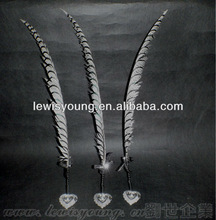 Beautiful longest pheasant feather dip pen for decoration