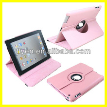 Tablet Accessories for 9.7 inch Leather Case for Apple iPad 3 360 Rotating Magnetic Smart Cover 2013 New Product