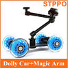 DSLR Camera Dolly Track Slider with 7 inch Articulate Magic Arm
