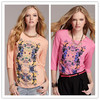 women printed elegant T-shirt in plus size