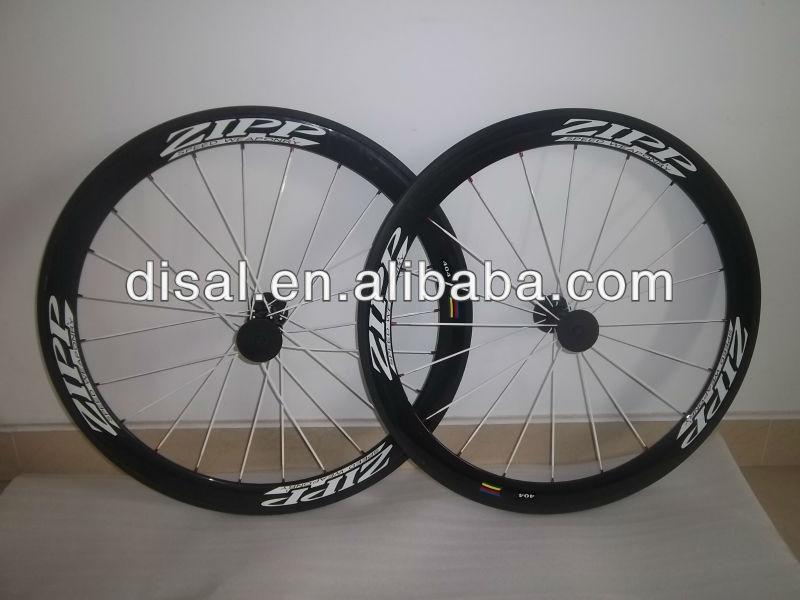 Wholesale---ZIPP 404 carbon fiber road bike wheels & 50mm &Novatec hub+spokes+quick release