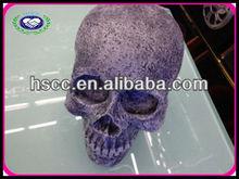 New Arrive Halloween Party Fashion Resin Horror Skull Shaped Sound Speaker