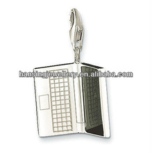 Hot wholesale silver laptop computer charm