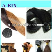 Top quality remy human hair /hair weft /prebonded hair ,l tip /u tip /vtip /ftat tip /nail tip /micro ring hair /hair bulk