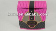 High quality pink polka dot and black plaid empty gift box