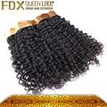 Nueva llegada de rizado rizado de onda, primas cabello virgen sin procesar, armadura del pelo humano