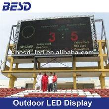 P20 Full Color LED outdoor advertising screen, Football stadium led display, led scoreboard