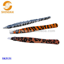 animal skin 3pcs tweezers stainless steel
