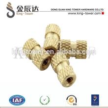 brass knurled lathe screws for plastic mold