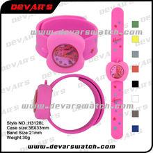 mignon montre, cheap wholesale kids slap watches silicone custom design watch