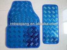 steelblue aluminum pvc car mat for 5pcs