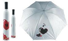 Cheapest promotion gift Silver wine bottle Umbrella wholesale