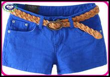 2013 cotton mix colors blue short jeans china