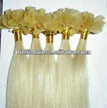 top fashion nail hair/U tip hair extention with 100% virgin human hair