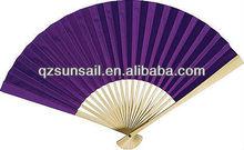 Custom design fabric or paper folding fan