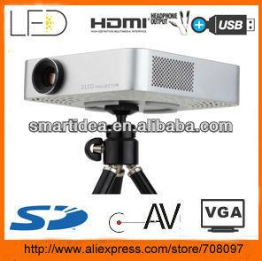 USB mini pocket projector with 200 lumens HDMI VGA Build-in memory