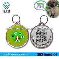 NEW creative!!!dog id tag, QR Code dog id tag