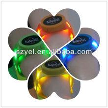 Remote Controlled Basketball Silicon Rubber LED bracelet/led wrist bands/led sound activated bracelets Online shopping