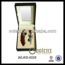 Wine Opener and Stopper Set in Acrylic Wooden Box