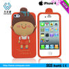 Sentimental momo protective silicone phone case for iphone 4/4s