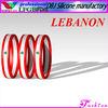 LEBANON Silicone Peal Beads Shamballa Bracelet/Wristband(LFGB/FDA)