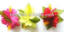 Luau Solid color Flower Hair Clip