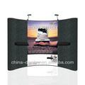Venda quente, alumínio pop up magnetic display stand com prateleiras para a cabine da exposição
