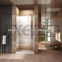 Deluxe brass hinge small shower door